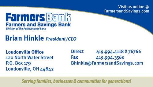 Farmers savings bank business card henley graphics farmers savings bank business card colourmoves