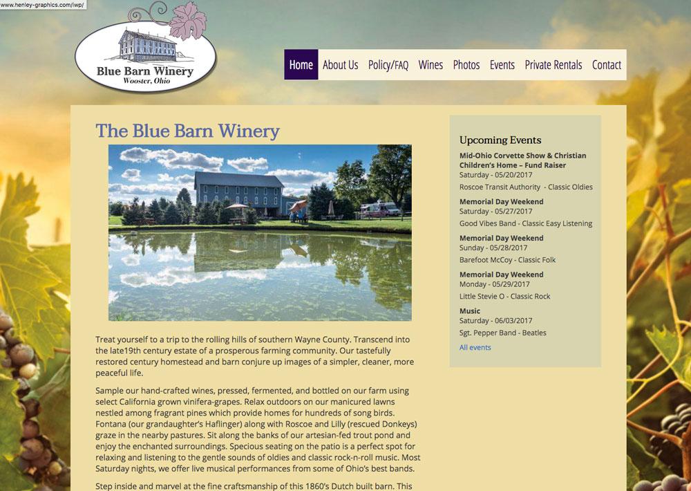 BlueBarnWinery - Henley Graphics