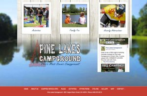 Pine Lakes Campground website