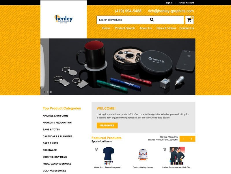 Henley Graphic Promo Products