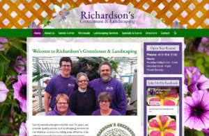 Richardson's Greenhouse & Landscaping Website