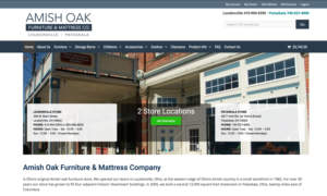 Amish Oak Furniture & Mattress Co. website