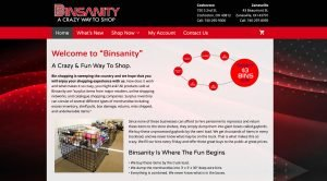 Shop Binsanity website