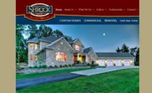 Shrock Premier Custom Construction Website