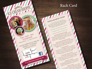 Stela's Ice Cream Rack Card